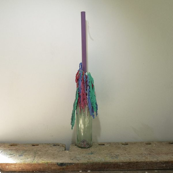 Druipkaars koolzaadwas, ø 2 cm x 30 cm, paars