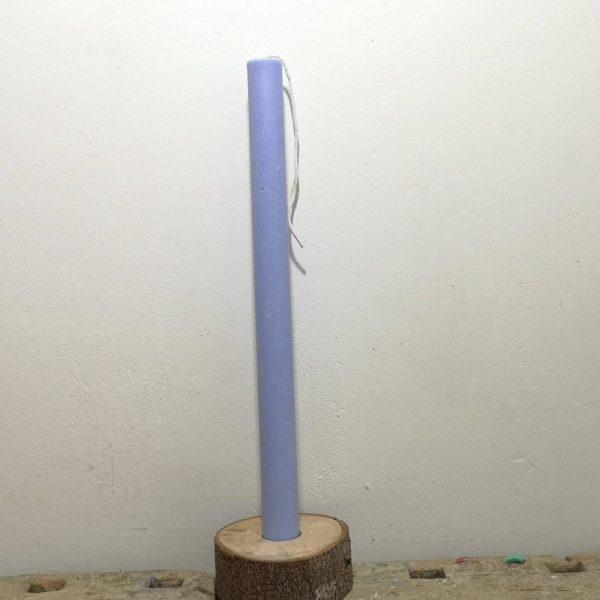 Druipkaars koolzaadwas ø 3 cm x 40 cm, midden blauw