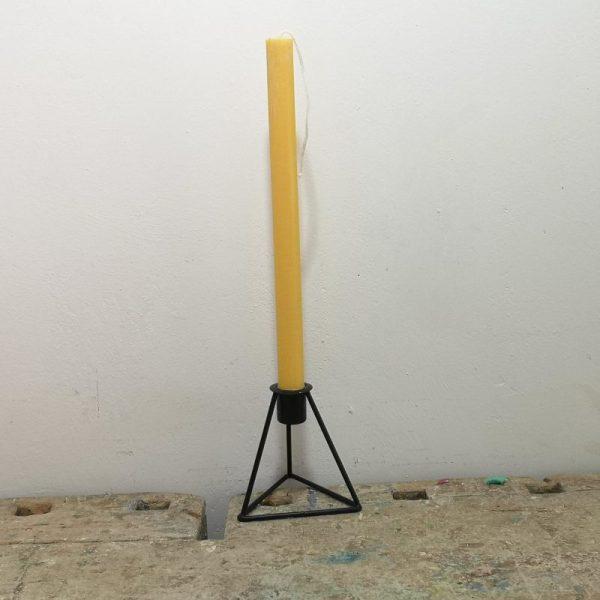 Tafelkaars koolzaadwas, ø 2 cm x 30 cm, geel