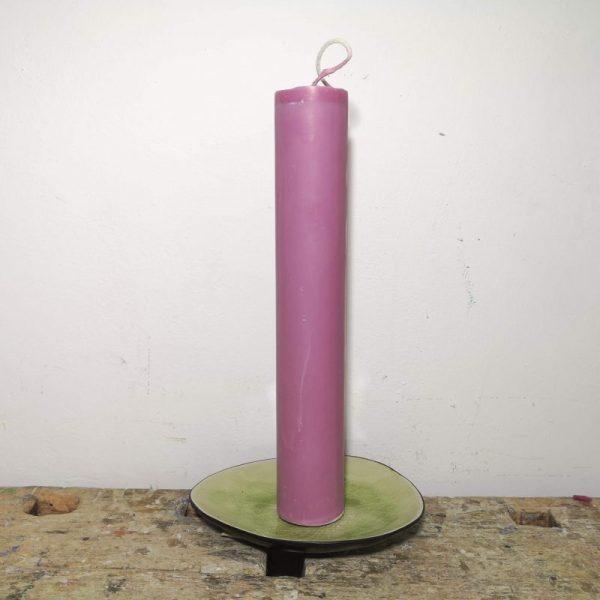 Druipkaars koolzaadwas ø 4 x 25 cm. oud roze