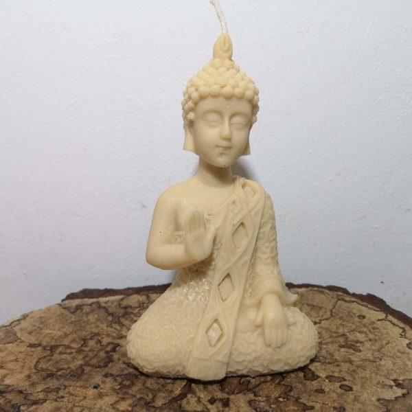 Boeddha kaars, koolzaadwas, kaarsenmakerij Om de Noord.