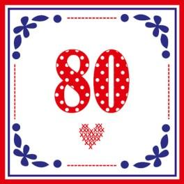 Spiksplinternieuw Tekst kaartje 80 jaar. Verjaardagsteksten en kaartjes XF-01