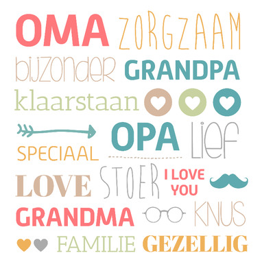 Geliefde Tekst kaartje opa en oma worden. Kaartjesteksten.nl #XG92