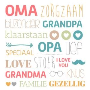 Nieuw Tekst kaartje opa en oma worden. Kaartjesteksten.nl KT-56