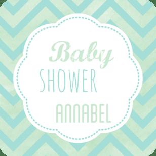Babyshower kaart teksten