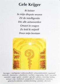 Gele krijger - Maya wijsheid creatiekaarten