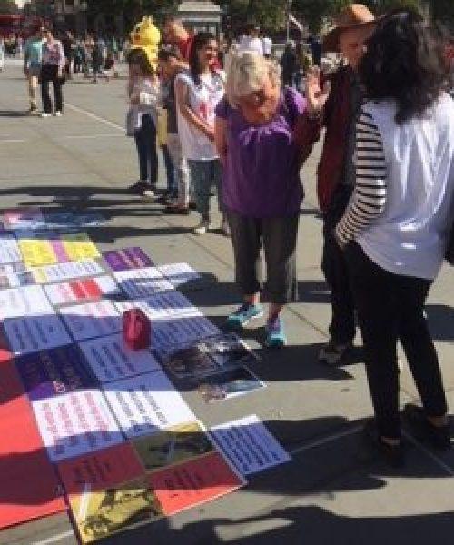 گزارشی از برگزاری آکسیون اعتراضی  به مناسبت سی و یکمین سالگرد کشتار زندانیان سیاسی