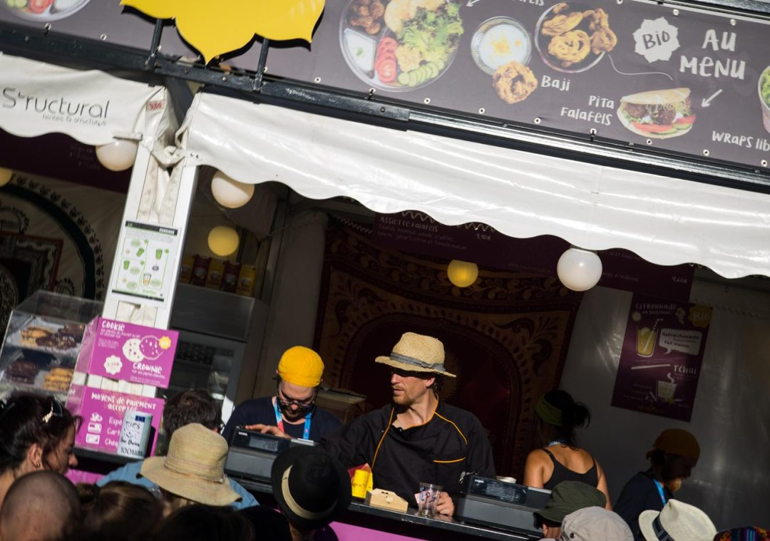 Kaba Nature stand traiteur festival bio nomade