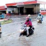 Hujan Lima Menit, Air Menggenang