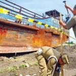 Kapal Putri Sri Tanjung I Dipasang Garis Pembatas