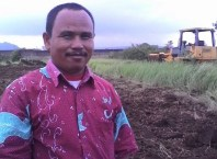Salah seorang warga Desa Karangdawa Kec.Margasari Kab.Tegal (Foto : Dok.Sumito)