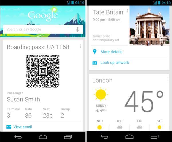 Aplikasi Ramalan Cuaca - Google Now app