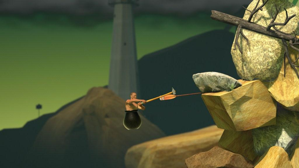 Berayun dalam Getting Over It With Bennett Foddy