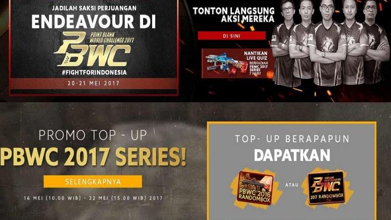 Menyambut PBWC 2017, Garena Gelar Event Keren Bro!