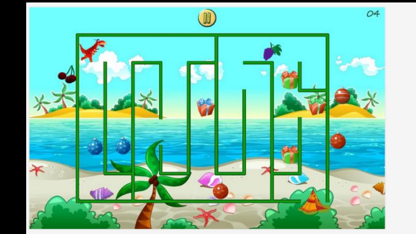 Game Edukasi Anak (PAUD) - Dino-Maze