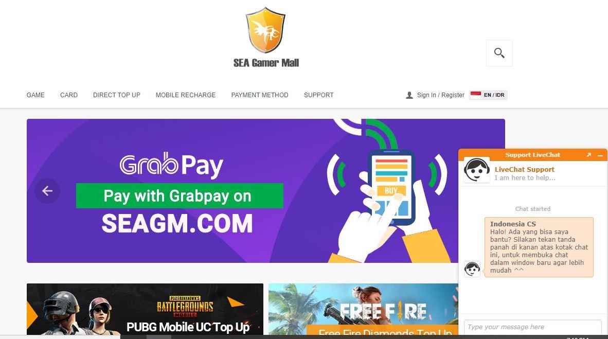 Top up Mobile Legends murah SEA Gamer Mall