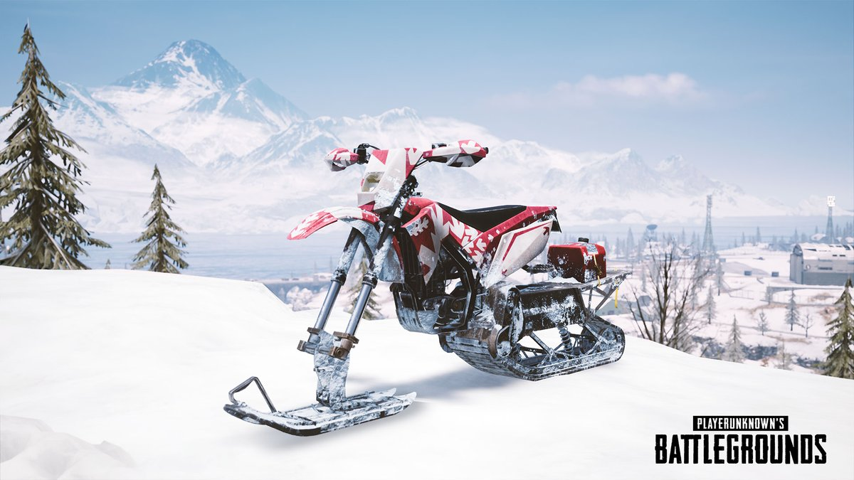 PUBG Mobile Season 9 Update Snowbike