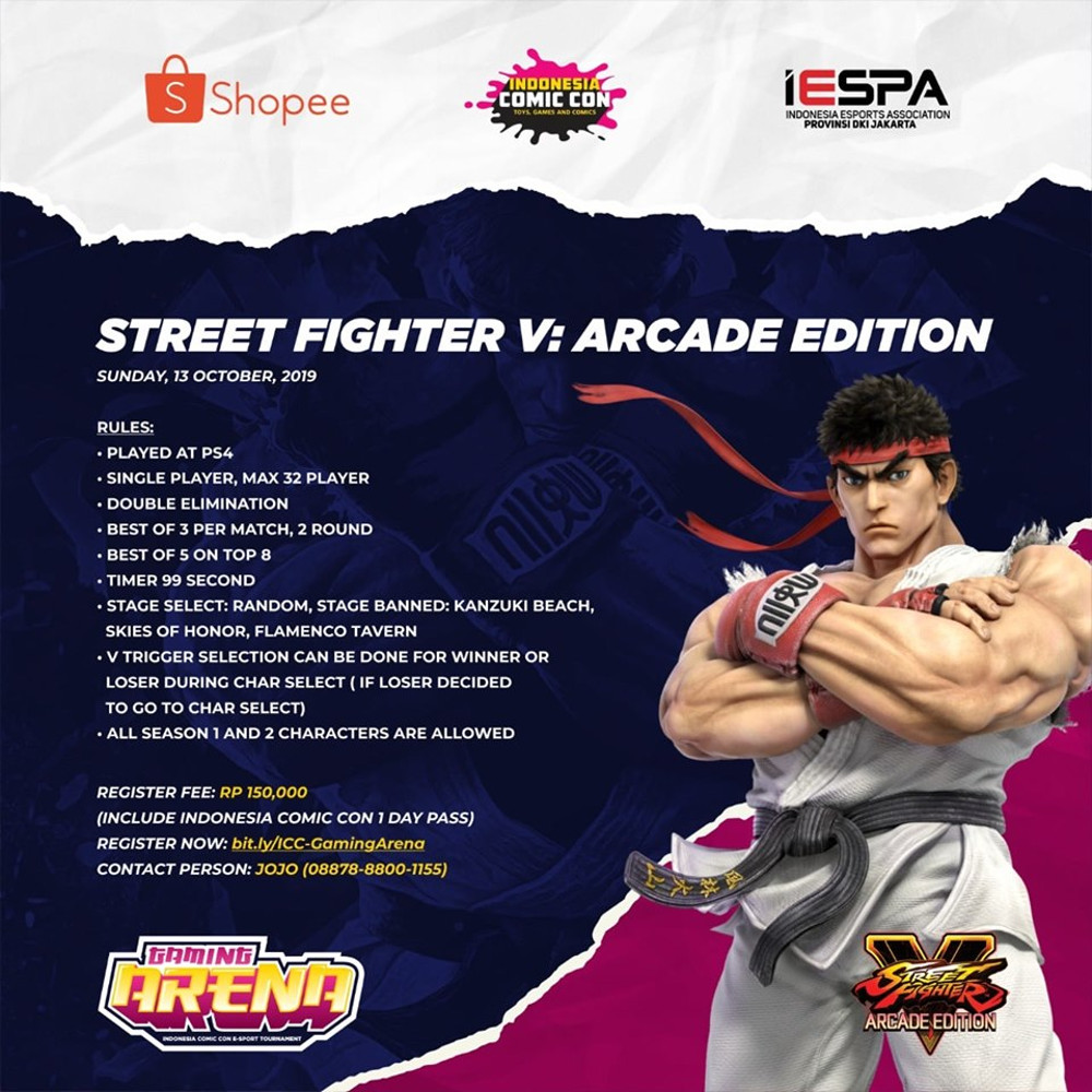 eSports ICC 2019, Street Fighter V