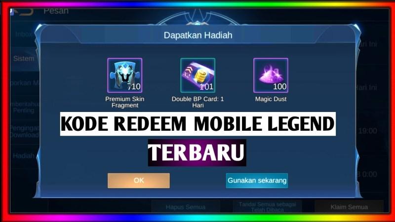 Kode Redeem Mobile Legends (ML) Terbaru Agustus 2020