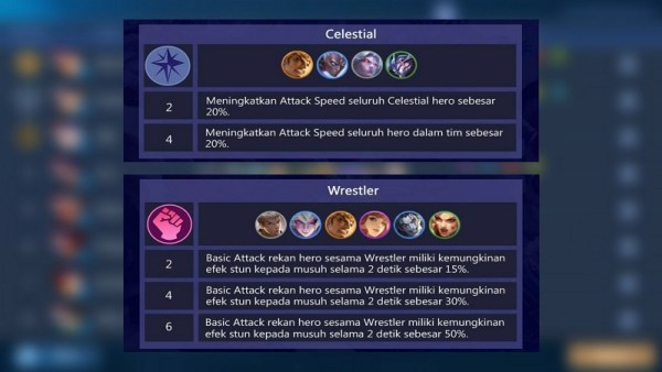 Combo Magic Chess Mobile Legends - 6 Wrestler + 4 Celestial