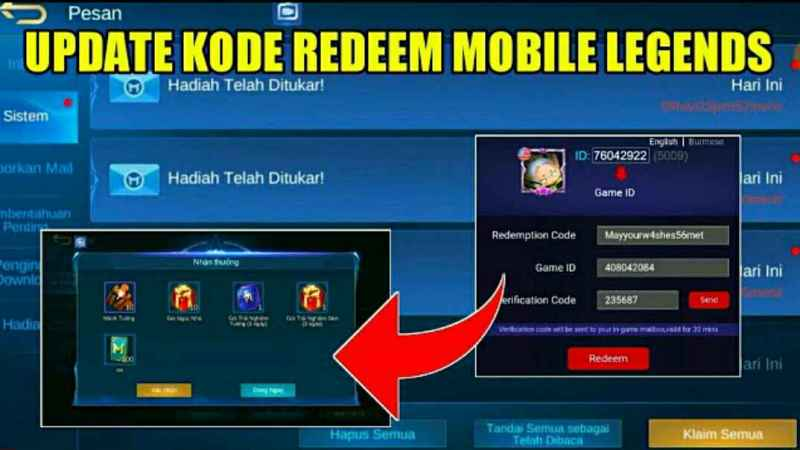 Kode Redeem Mobile Legends (ML) Terbaru September 2020