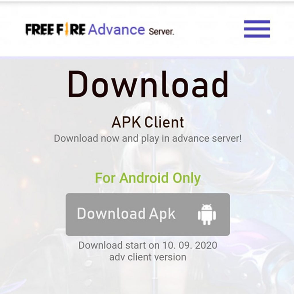 Cara Download APK FF Advance Server?