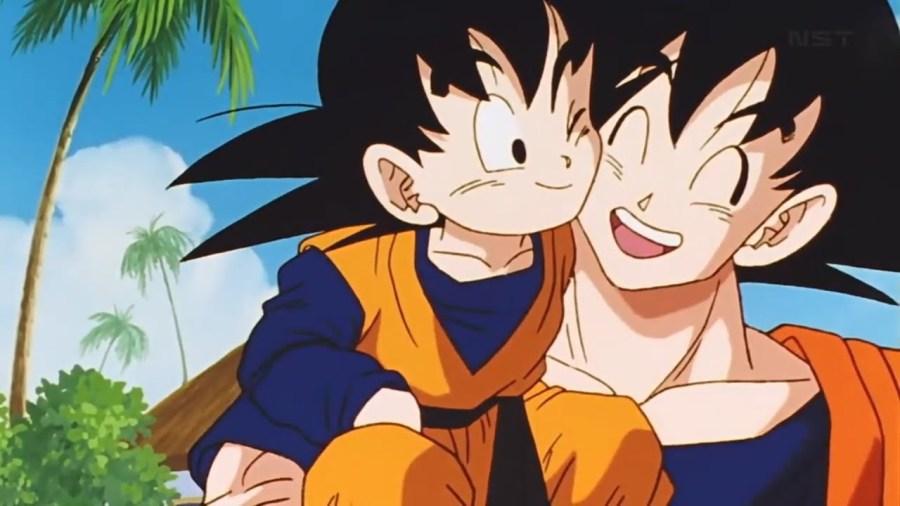 Goten Bertemu Goku Untuk Pertama Kalinya