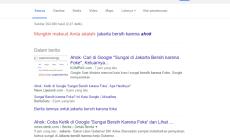 Permalink ke Cari 'Karena Foke' Google Sarankan 'Karena Ahok