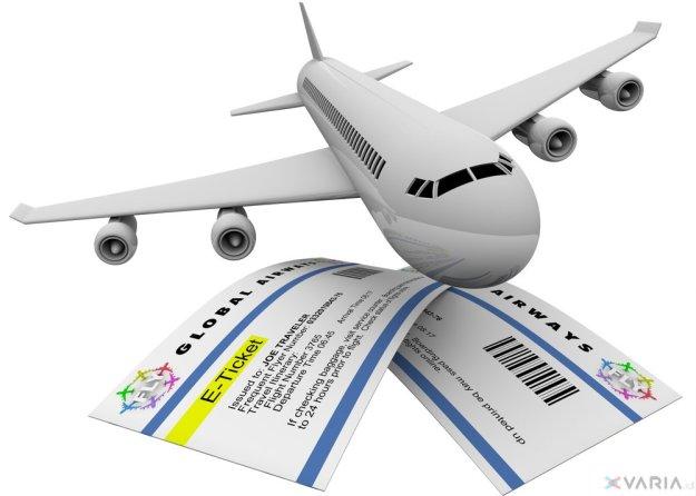 Ilustrasi tiket penerbangan. Foto : Internet