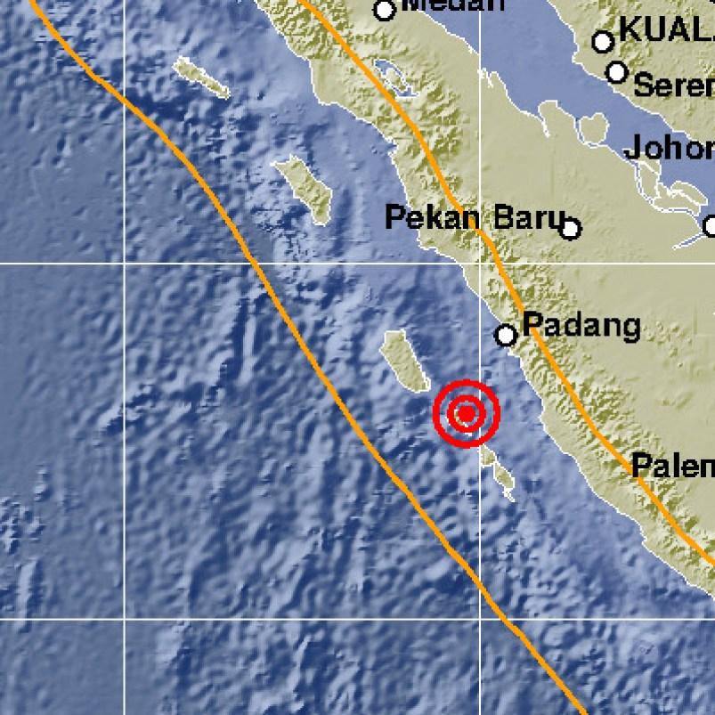 pusat gempa yang terjadi pada Selasa dini hari.JPG