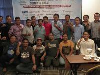 Pengurus Asosiasi Media Siber Indonesia (AMSI) Wilayah Sumatera Barat usai Konferensi Wilayah Pertama di Fave Hotel, Padang, Selasa (7/11/2017). Foto : Istimewa