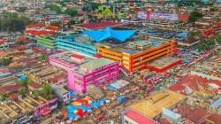 Tampak dari udara kondisi Pasar Raya Kota Padang, Sumatera Barat/Ariz