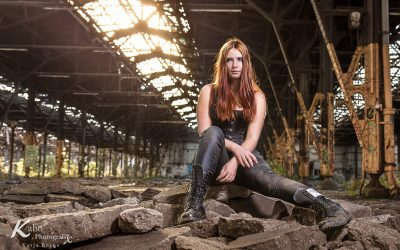 Lost Place Shooting mit Nana u. Blauer Schmetterling