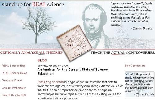 stand up for REAL science blog