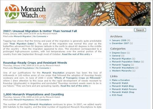 Monarch Watch Blog