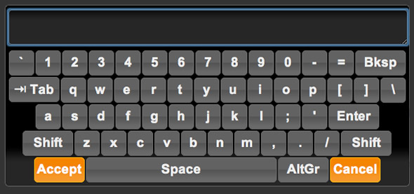 teclado virtual jQuery