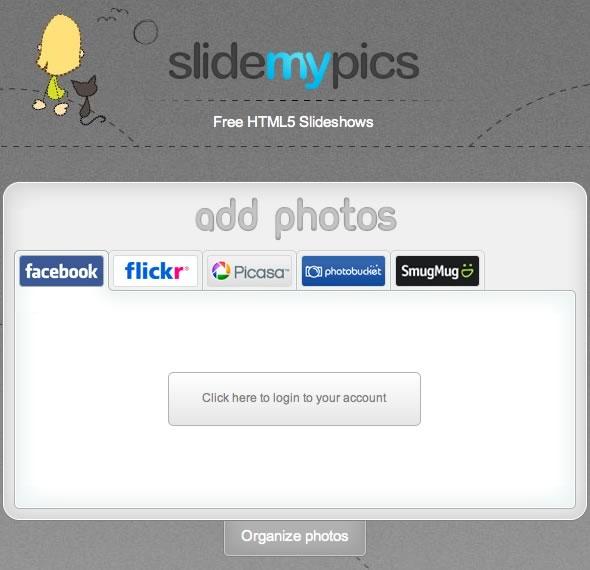 slider de imagenes desde Facebook