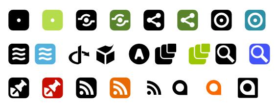 fuentes tipografias iconos sociales