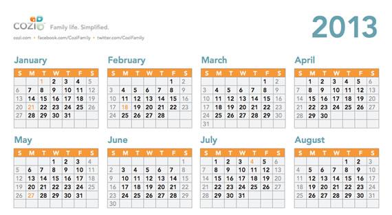 Calendarios para imprimir (3/6)