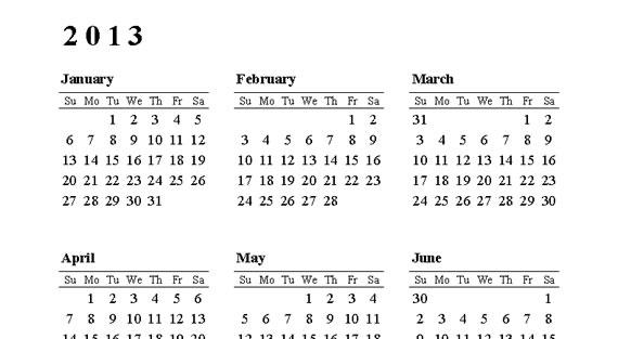 Calendarios para imprimir (4/6)