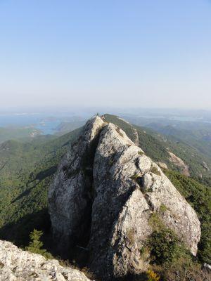 白嶽山頂から