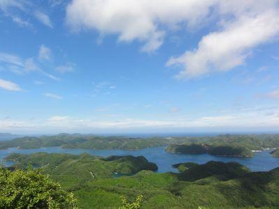烏帽子岳から見た浅茅湾