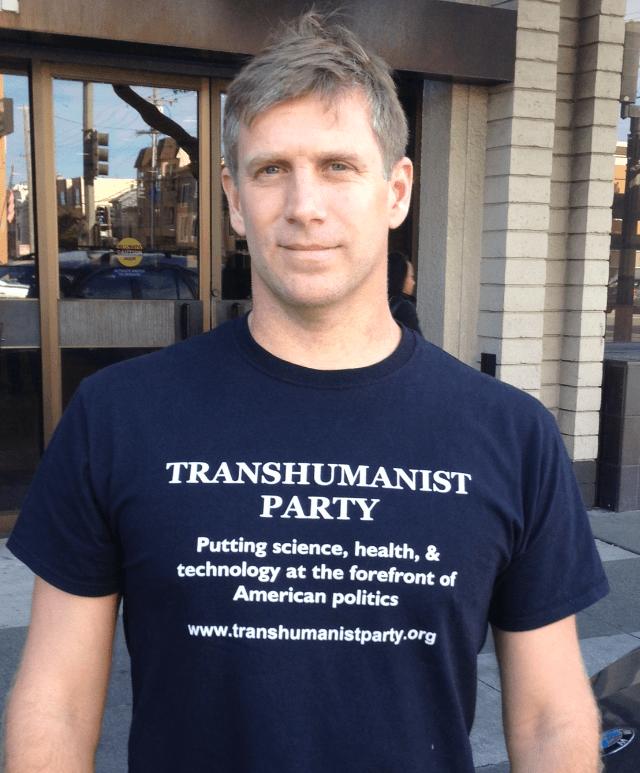 Zoltan Istvan Transhumanist party shirt