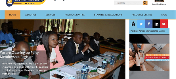 Office of the Registrar of Political Parties (ORPP)