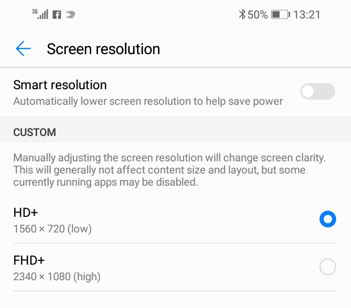 Huawei Y9 2019 Display resolution