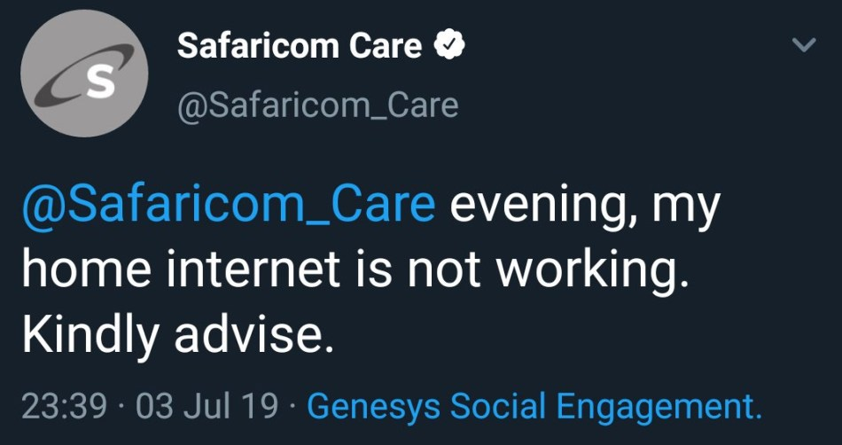 Safaricom Twitter Account