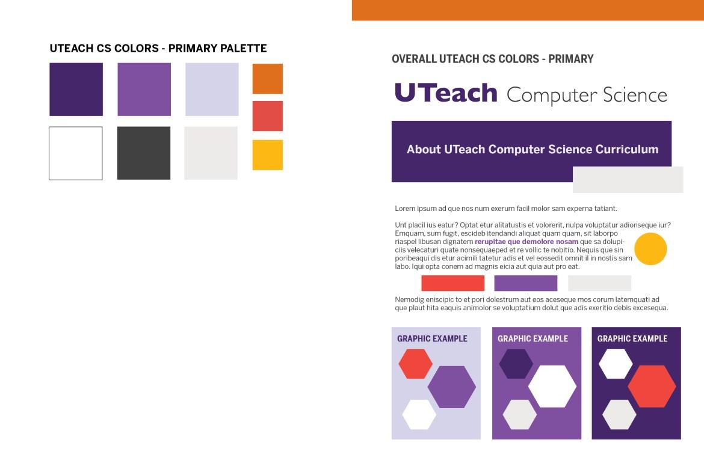 UTeach CS Color Primary Palette