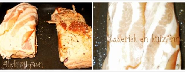 Cuisson recette filet mignon à l'Italienne avec des pommes de terre et tomates bio cuitent au four sur ©Kaderick en Kuizinn