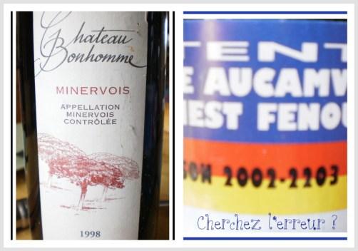 Bouteille de vin Château Bonhomme sur ©Kaderick en Kuizinn