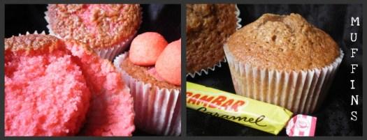 Muffins fraises tagada ou aux carambar pour un dessert ou un goûter